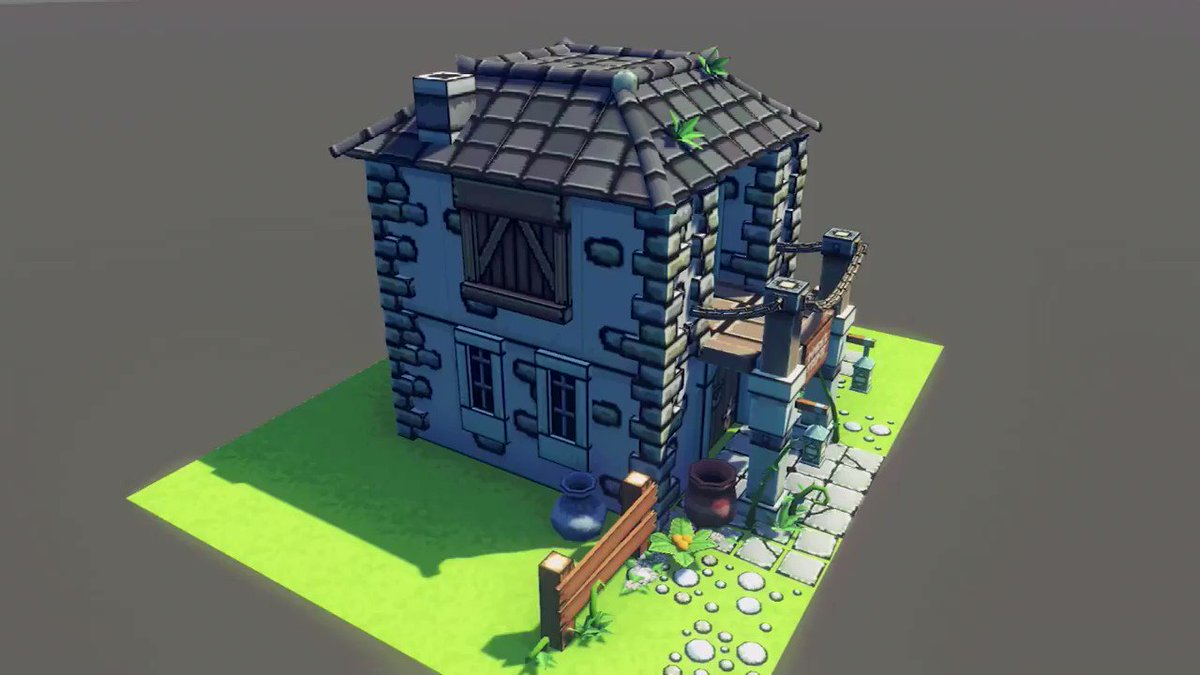 Amazed with the versatility and speed of this #unity asset we're preparing😍  Now we can create buildings in no-time!   All of it fully compatible with the rest of our #3dart kits   Check them here!👇   More soon!😘  #gamedev #indiedev  #Zelda  #lowpoly