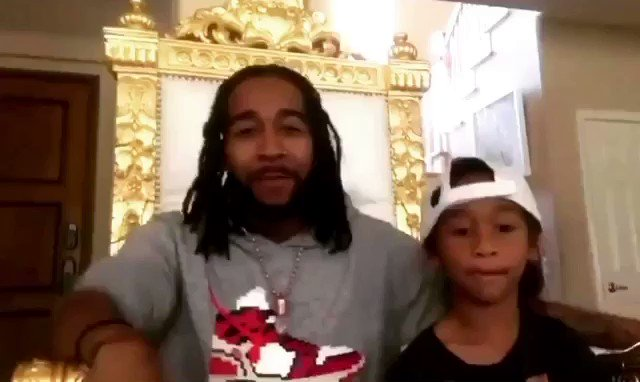 #Omarion and his son Megaa are having some quarantine fun with his new #FatherSonBeatBox challenge 🥁