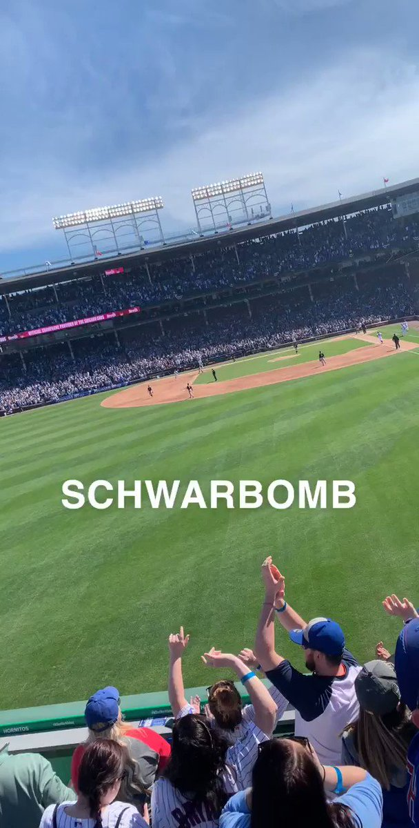 A year ago today my left fielder welcomes baseball at Wrigley with a nukeeee @DOM_Frederic