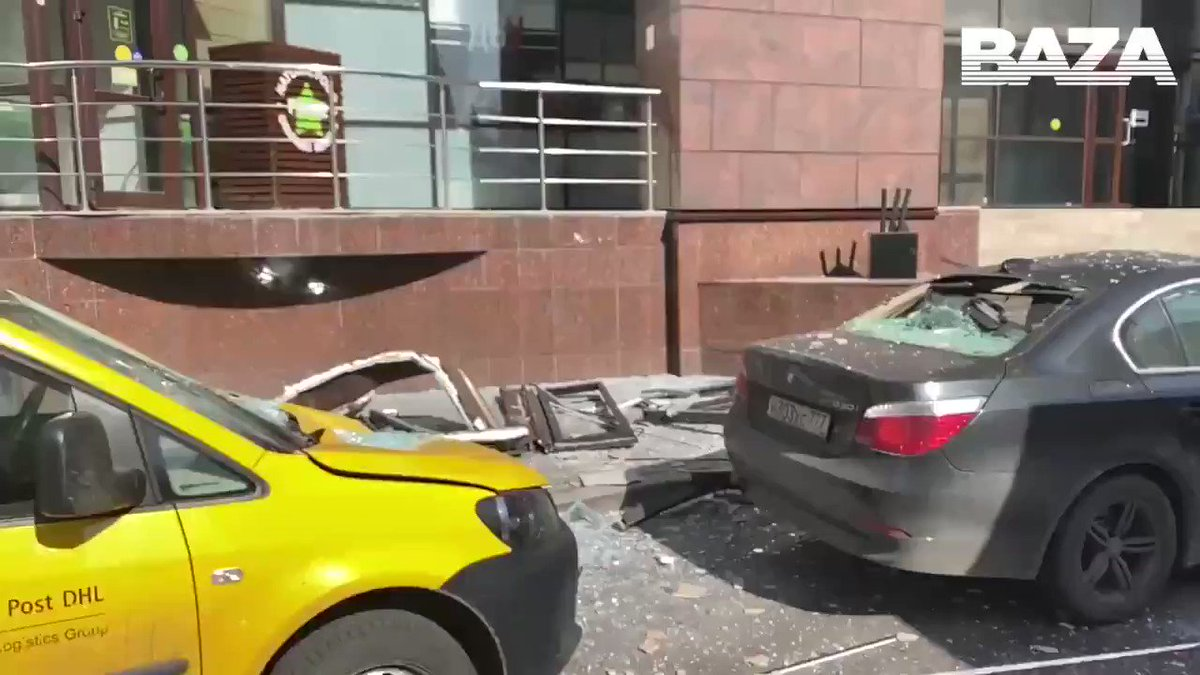 VIDEO: Aftermath of this morning's explosion in downtown #Moscow. pic.twitter.com/eQfJUuWD7L #Russia