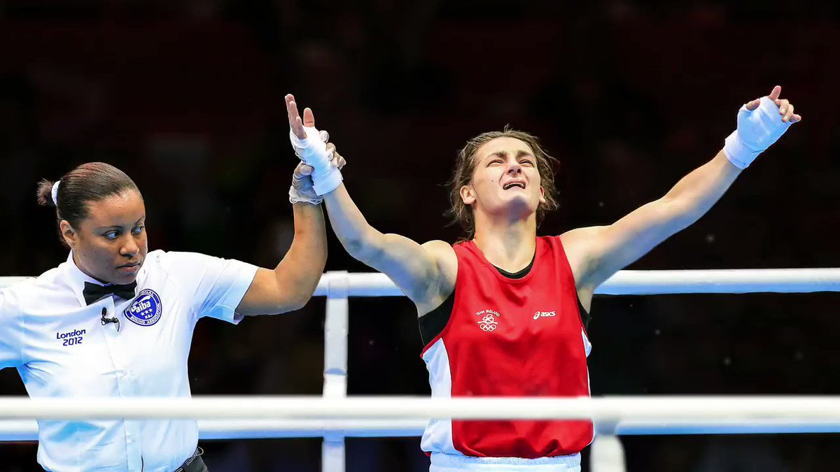 """Today's #InphoMoment is a real """"where were you?"""" one and it took place in 2012 in London, it's the moment @KatieTaylor won gold at the @Olympics! @TeamIreland @Irishboxingcom @LoveIrishBoxing @BPPboxing @sportireland"""
