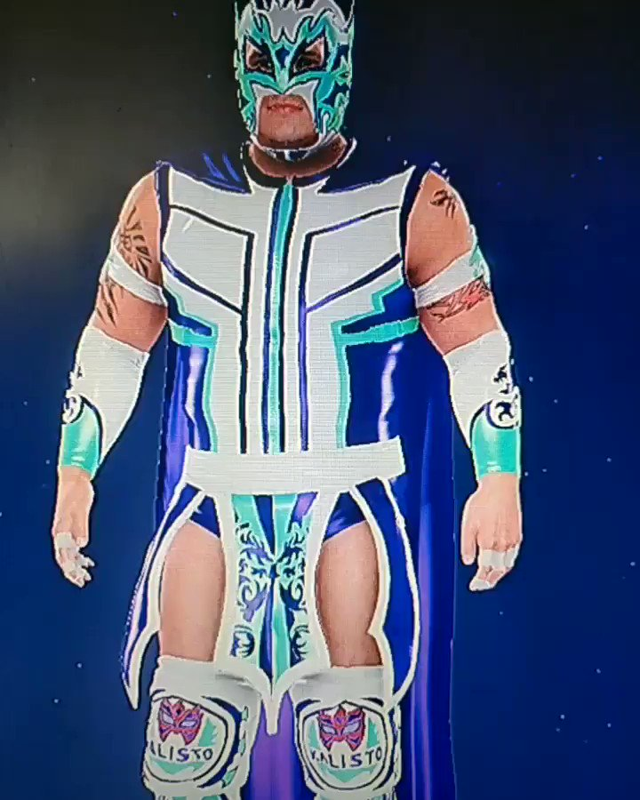 @KalistoWWE Calista created this new attire for you on #WWE2K20 You're like a Superhero  #LuchaLuchaLucha #Superhero #Catch #Wrestling #WWE #Luchador #Idol #Superstar #Mask #Inspiration #LuchaCalistapic.twitter.com/LokdAKcXOd