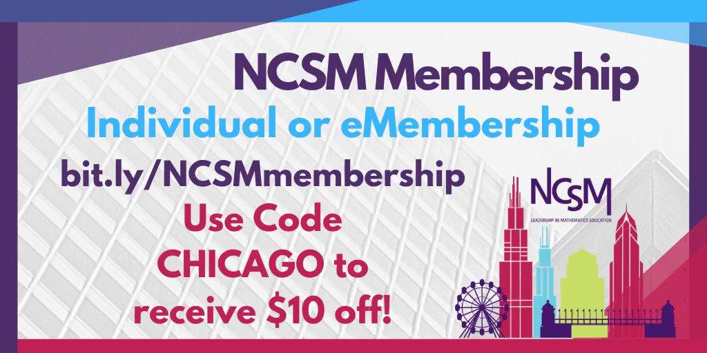 Renew you NCSM Memmbership today with the below code!!! #NCSM20 #NCSMbold #membership #MathEdLeaders