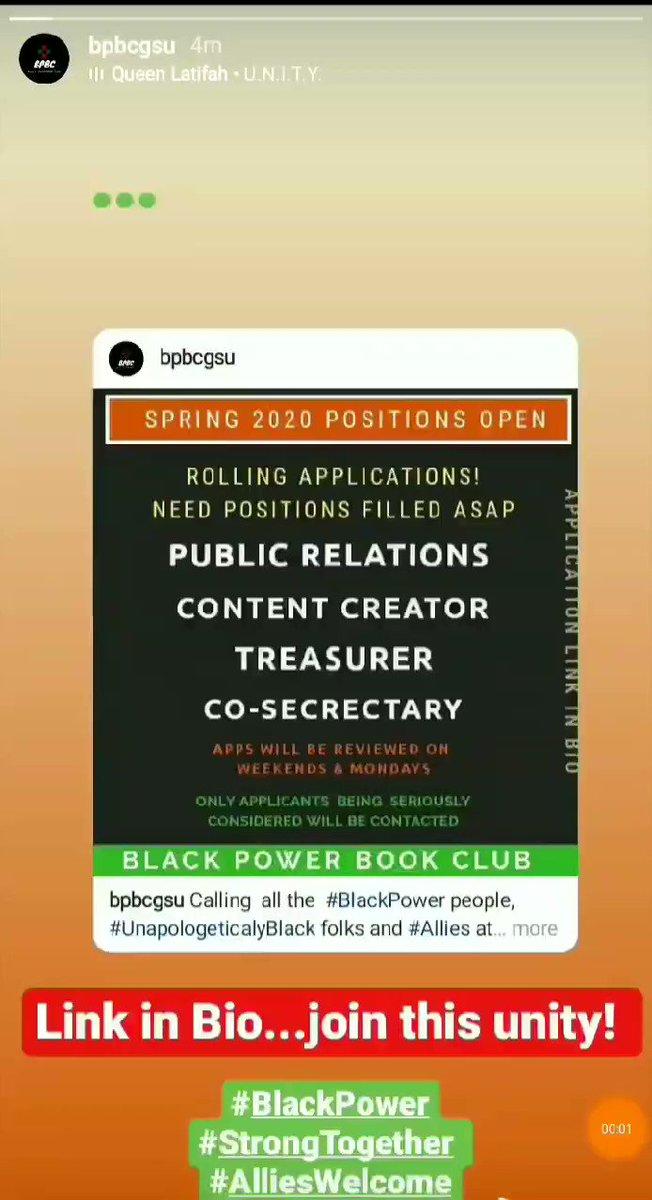 Join @bpbcgsu to help unify students through literature, cultural events, and action!   Application Link:  https://t.co/2hdVX4ctkA  Follow us on IG!   #Books #BookClub  #GeorgiaStateUniversity  #GSU #GSU21 #GSU22 #GSU23  #GSU24 #UNITY  #Atlanta  #ATL https://t.co/Nuuzp0AeFv