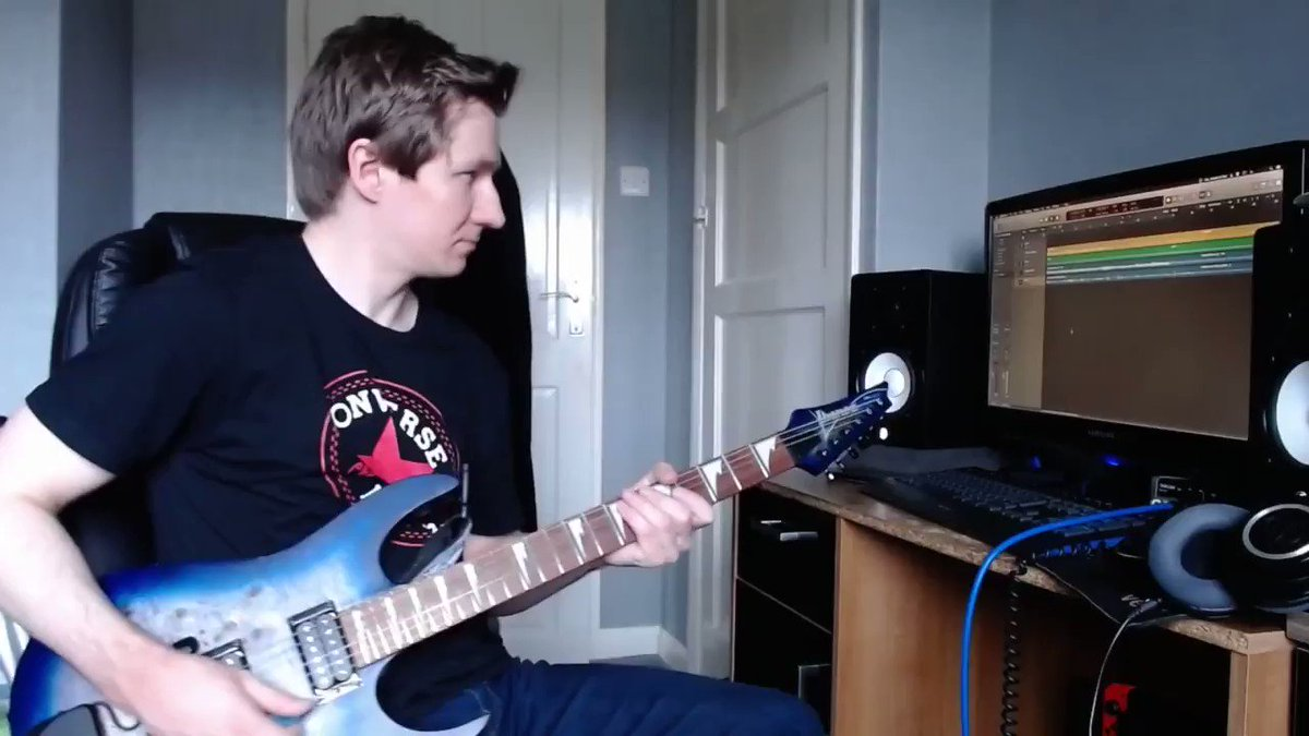 Solo over a cheesy loop. This time it's a melodramatic cheesy loop for a change.   #Guitar #Guitarist #Solo #Shred #Moody #Melodramatic #Cheese #Ibanez #DimarzioPickups #LogicPro #LogicProX #IbanezGuitars #Dimarzio #GuitarRig #GuitarRig5 #LogicPro #LogicProX pic.twitter.com/6wqphdlpmP