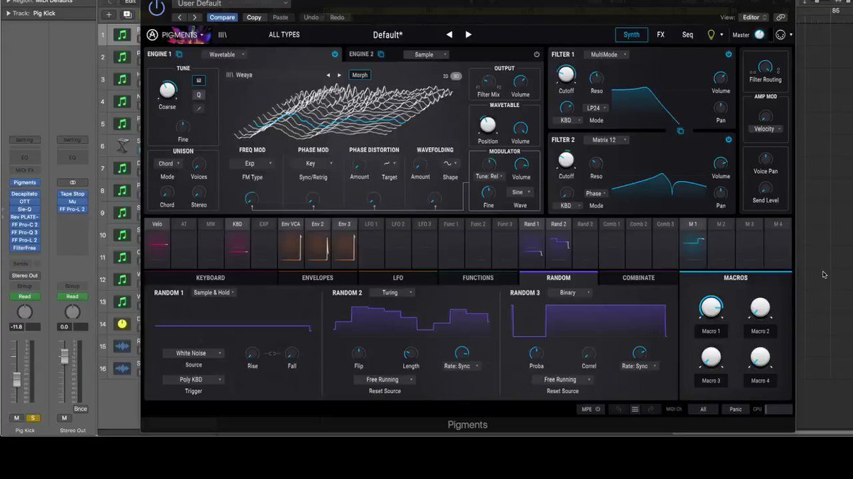 With a kick like this who even needs a sub/bass?  #Pigments #Arturia #ArturiaPigments #Kick #Techno #Gabber #OTT #SoundToys #Rev40 #ProL2 #ProC2 #ProQ3 #SoundDesign #Sound #Aggressive #AggressiveSound #Producer #LogicProX #Synthesiser #Drum #Drums #PowerfulKick #Yessm8pic.twitter.com/YkzfAj6pUy