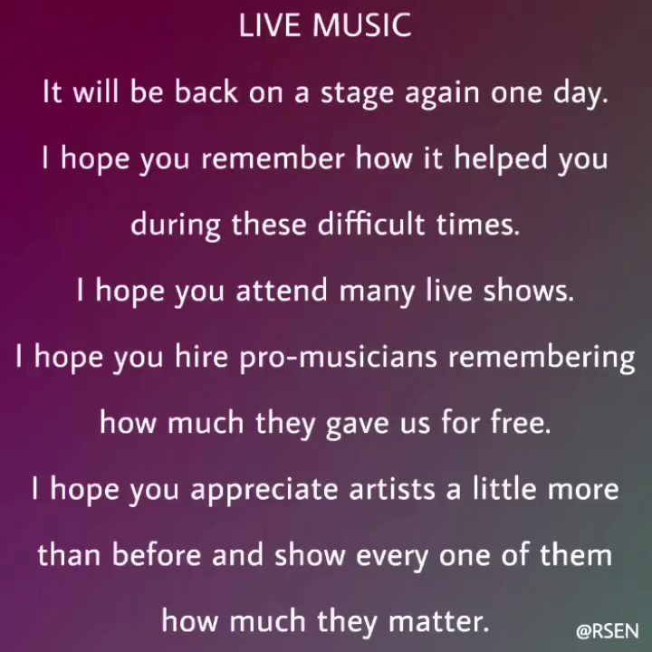 Thank You Musicians! #livemusicmatters #thankyoumusicians #music #love #musicians pic.twitter.com/tN7pS0Qxw5