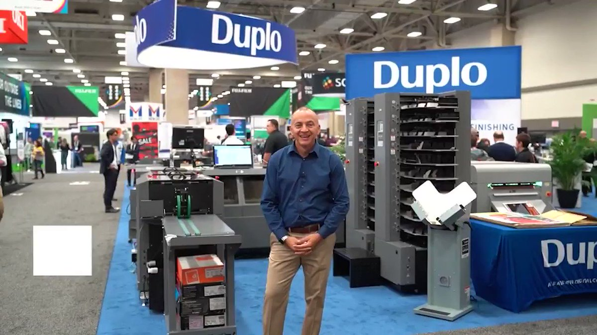 Image for the Tweet beginning: The @DuploUSA booth at #PRINTINGUnited