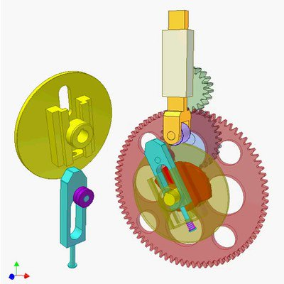 Cam and Gear Mechanism