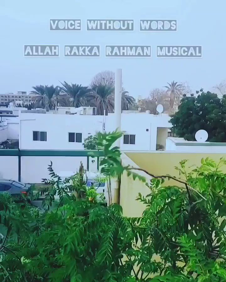"""""""The voice without words""""  An exemplary composition from the Mozart of Madras where the sound of nature is captured brilliantly.  Video taken from our terrace in Dubai  #Arrahman #99songs #99songsthemovie #Nature #Wind   @arrahman  @vishweshk"""
