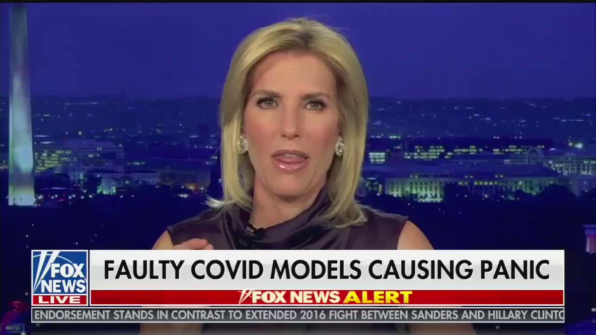 Laura Ingraham thinks Americans should be furious that the pandemic isnt as bad as originally projected