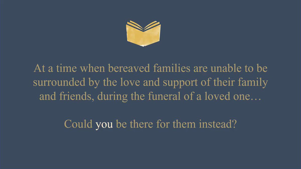 Please could you help support #bereaved people at this difficult time. Such a simple thing to do. #weareallinthistogether