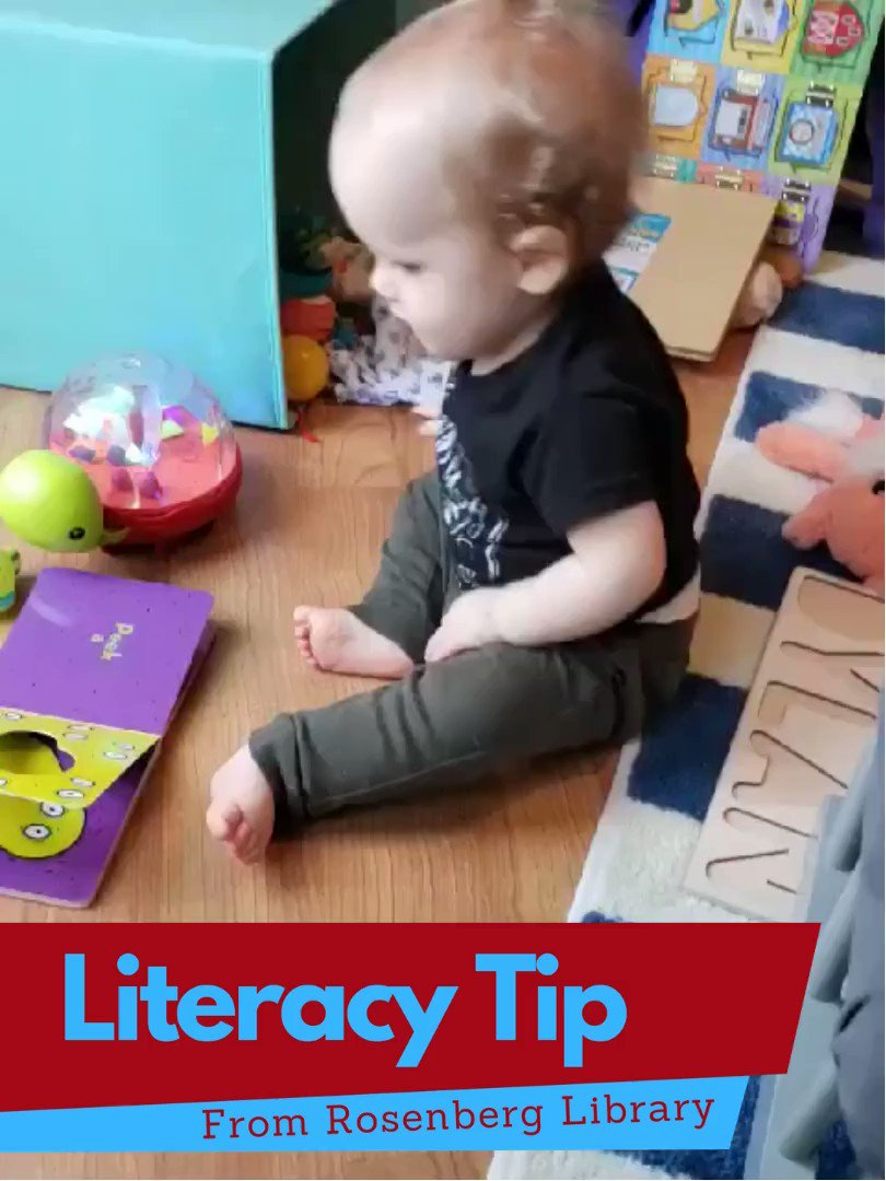 📖 Literacy begins early and lays the foundation for language. Let your baby hold the book on their own.   It is ok if it is upside down or they turn the pages backwards. Exploring the concept of a book is half of the fun!