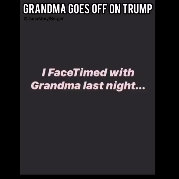 This Grandma says something about Trump & #COVID19 that we are ALL thinking. BRAVO!! 👏👏❤️❤️