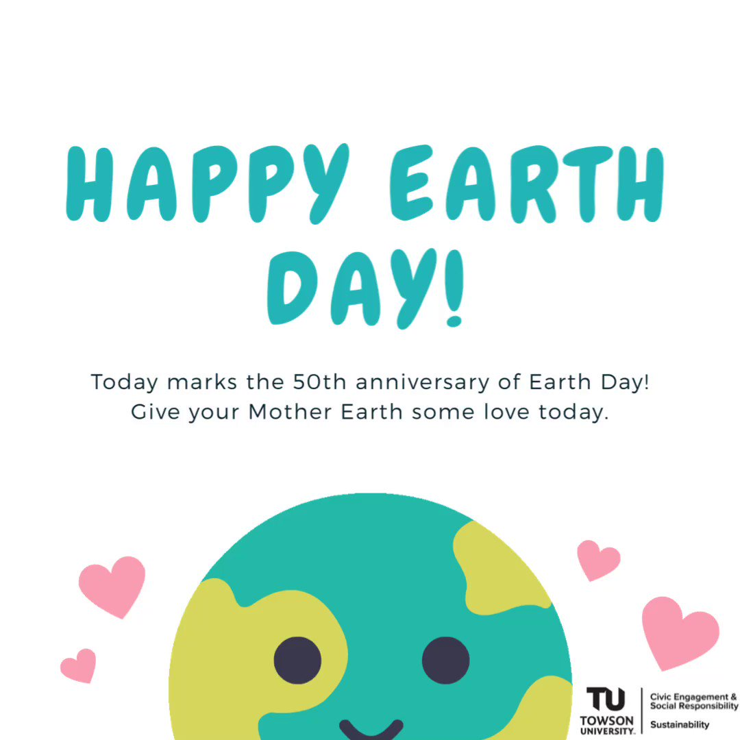 Happy Earth Day! See the TU Today post about some ways you can celebrate 🎉 tutoday.towson.edu/2020/04/22/hap…