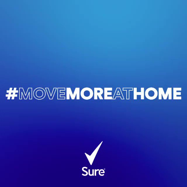 Excited to be part of @Sure ambition to inspire millions to move more around the world. Lets all #MoveMoreAtHome #ad