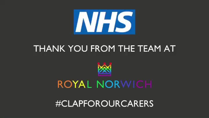 Thank You #ClapForCarers #NHS 👏🏻🌈💙