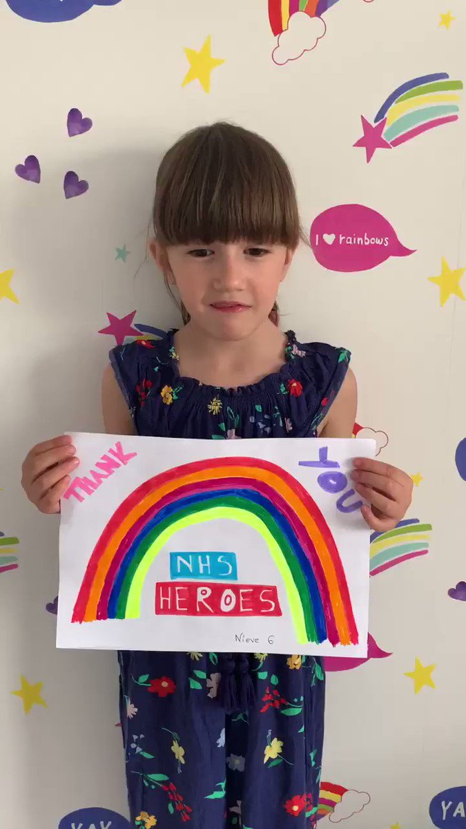 Need something to make you smile? Watch this little message from one of #TeamGriffiths to everyone at #TeamUHCW 🌈