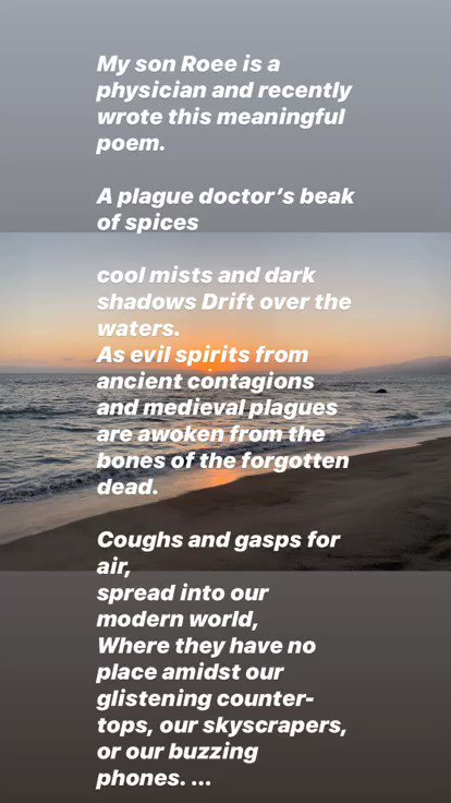 My son, Roee recently wrote this meaning poem (video on two slides)