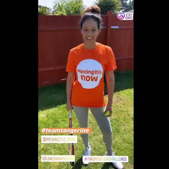 It's over to you! Have a go at the #TwoPointSixChallenge & show some love for the Charities close to your heart 🧡 Good Luck! @LondonMarathon @MeningitisNow #teamtangerine