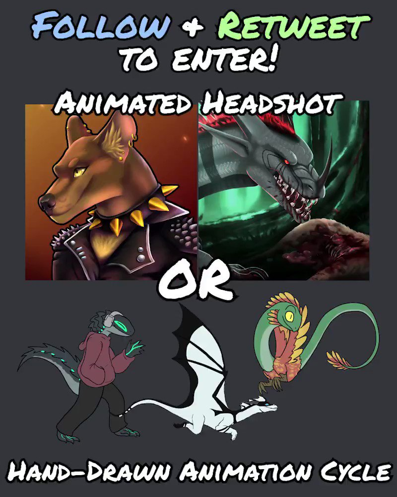💚7000+ Follower Raffle!💚 -Follow me & Retweet this post to enter -Winner can choose either an Animated Headshot OR Hand-drawn Cycle! -SFW Only! -Giveaway/Locked accounts and Quote RTs do NOT count -Raffle ends the end of April 30th PST 🦎Thanks again for all of the support!🦎
