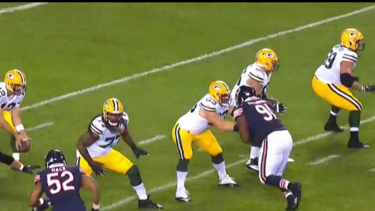 Check out #ChicagoBears highlight: Mack Assist Floyd To Sack Aaron Rodgers #GBvsCHI   Find out more at   #daBears #Bears100 #NFL #NFLHighlights #SportsTalkLine