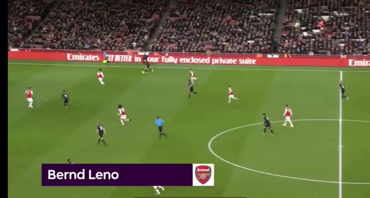 Bernd Leno and Arsenal face #LCFC tomorrow at the King Power...🏟  Here he is pulling off one of 2020's saves of the year👀  #GKBlog #LEIARS #Arsenal #Leicester