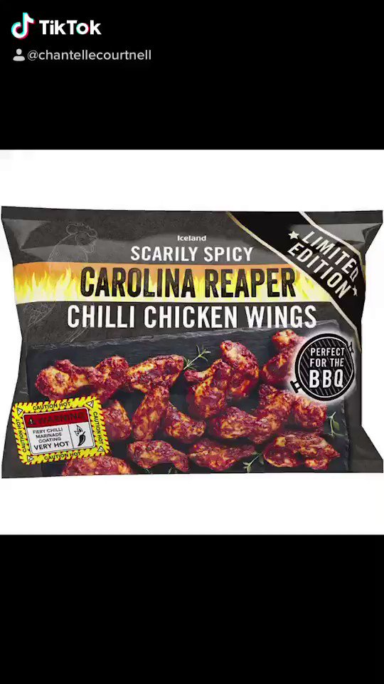 So my partner thought he could handle @IcelandFoods Carolina Reaper Chilli Chicken Wings... he really couldn't 🤣 #SpicyFood #TikTok https://t.co/cj8okh439w