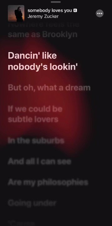 heya check out time synced lyrics to 'somebody loves you' on @AppleMusic !