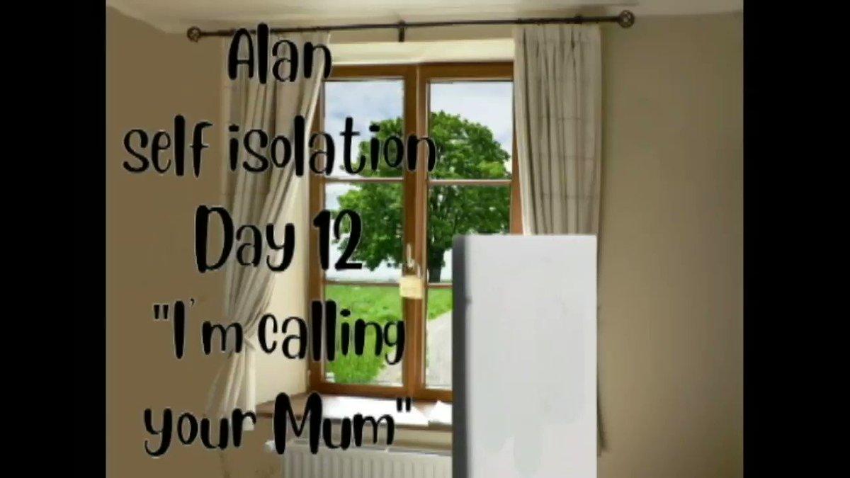 "Alan Self isolation day 12 ""I'm calling your Mum""  #Quarantine #QuarantineLife #boredinthehouse #SelfIsolation #SocialDistancing #lockdown #LockdownLife #AlaninLockdown #LifeInLockdown #animation #animated #animatedlife 6"