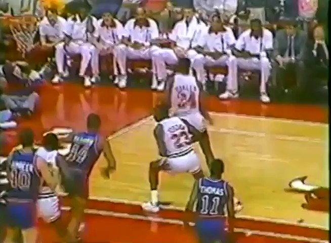 Phil Jackson describes the inability of Doug Collins and the Bulls' coaching staff to restrain Rick Mahorn during this fight.