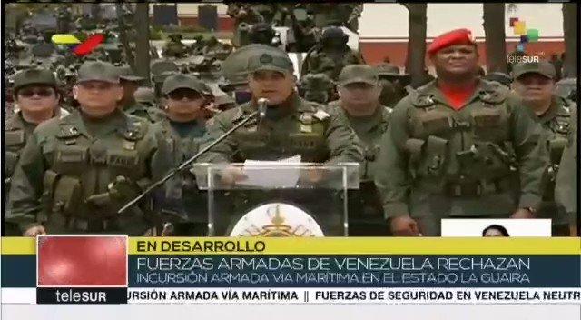 Condenamos esta nueva agresión de USA, de Invasión marítima, al intentar incursionar un grupo de mercenarios a territorio venezolano, la cual ha sido derrotada contundente y valientemente por el pueblo cívico militar bolivariana. Toda nuestra solidaridad con Venezuela.
