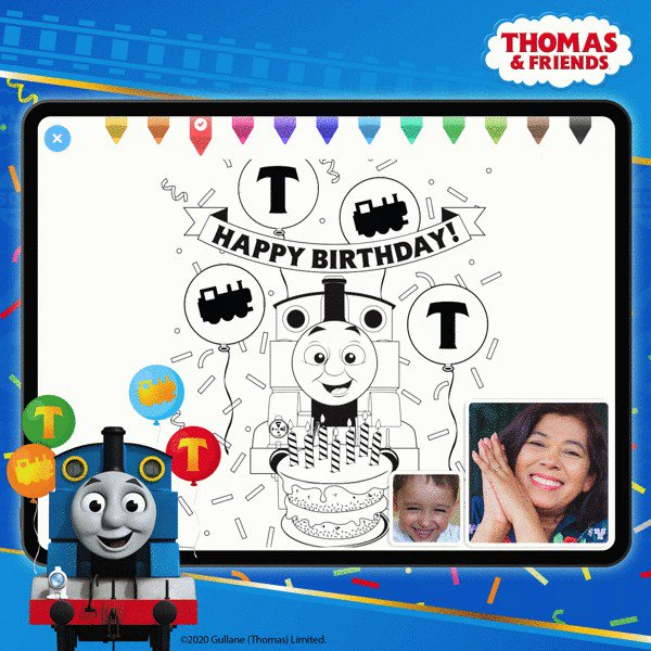 Your little engineers will have train-loads of fun with these @ThomasFriends coloring sheets! ✨🚂✨🎨🖌 They are NEW on the #CaribuApp and you can find them in the 'Activities' tab during your next virtual #playdate!  #Thomas75 https://t.co/dlBBxsrqib