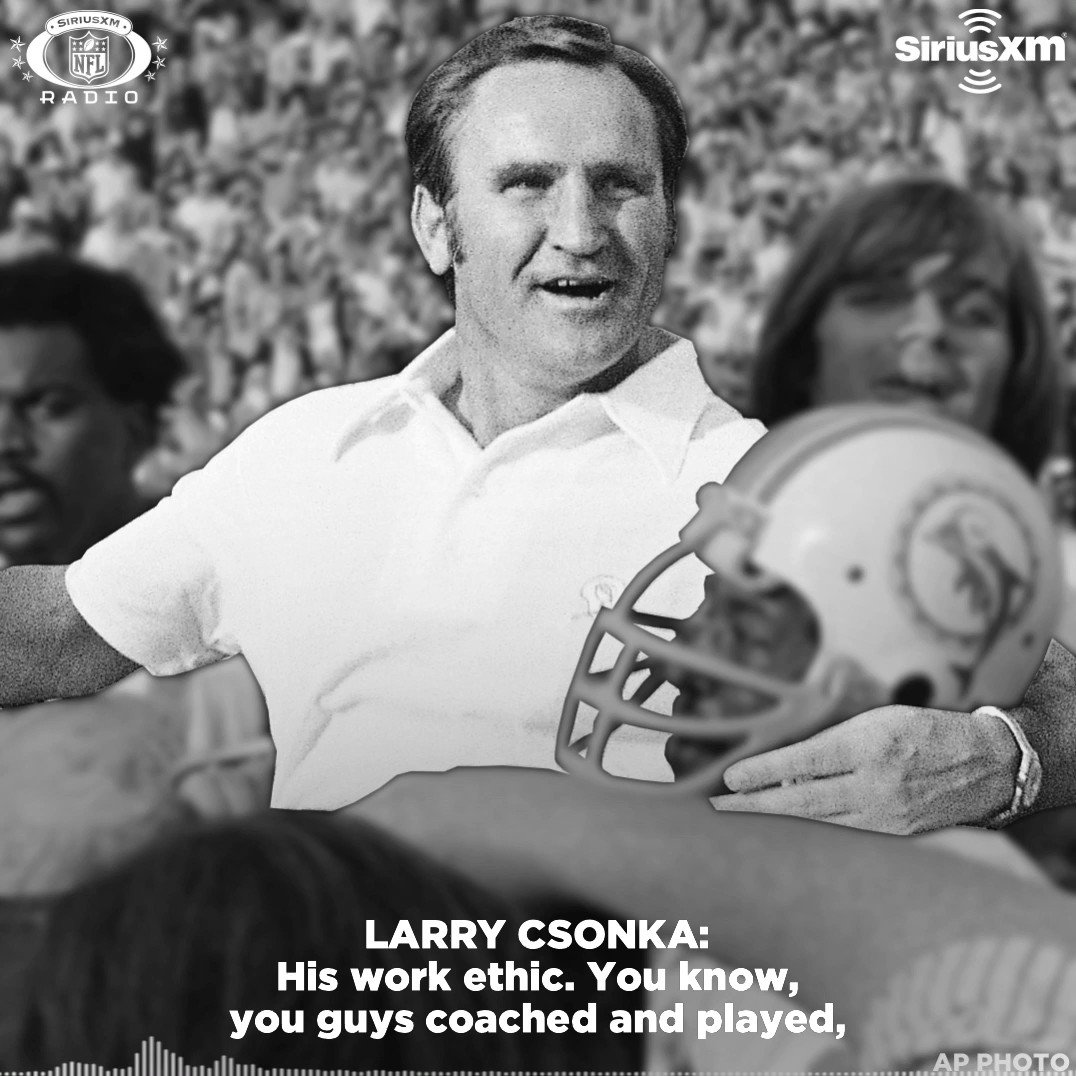 What made Don Shula special? For @MiamiDolphins Hall of Famer @Larry_Csonka39, the answer is easy.