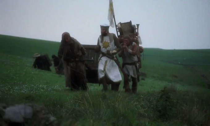 My public service for today: Monty Python and The Holy Grail. Happy birthday to Michael Palin too! Click