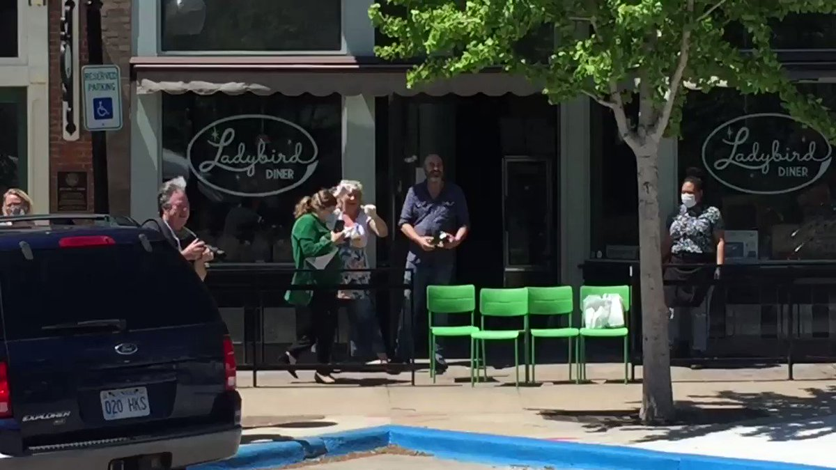 45 seconds of the Surprise birthday parade for Meg of @ladybirddiner. Thanks for always being awesome, Meg, and now more than ever!