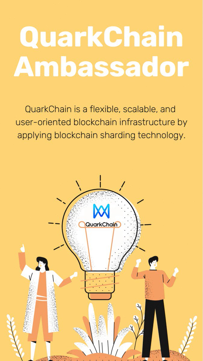 QuarkChain Ambassador Program 🦹 -- We're still hiring! Apply today to become our global ambassador and earn rewards monthly based on your performance! We also have unique gifts and rewards for you! 🎁