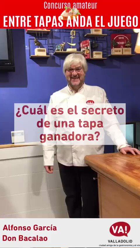 Aunque también podéis participar en nuestro concurso #EntreTapasAndaElJuego en solitario, para Alfonso García, de @DonBacalaoRte, el trabajo en equipo es una de las claves para conseguir una tapa ganadora. 🔗info.valladolid.es/-/valladolid-s… @SaboreaEspana @Apehva @CNPinchosVLL