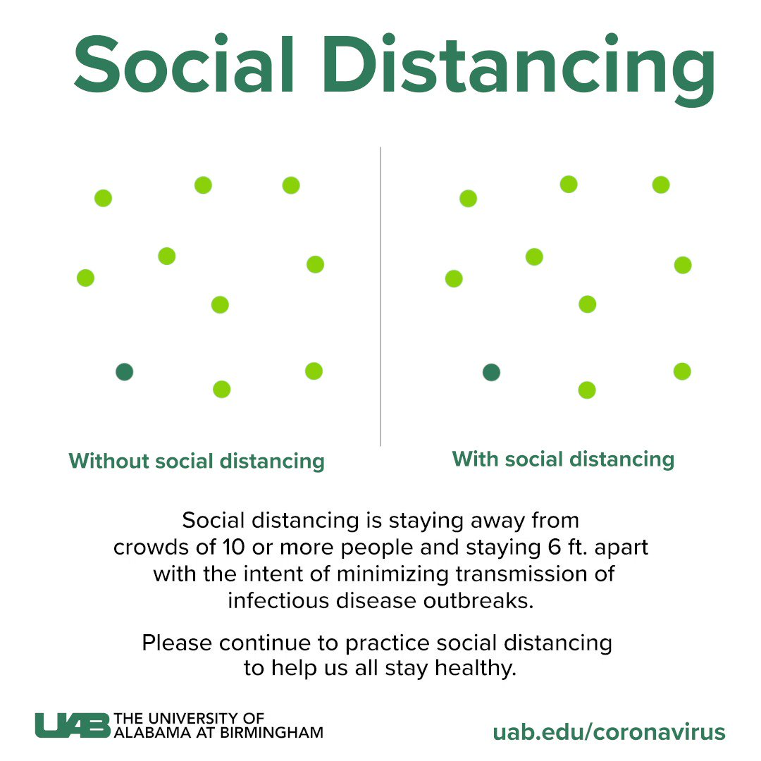 Here's how #socialdistancing can slow the spread of COVID-19. Please do your part to help us all stay healthy.
