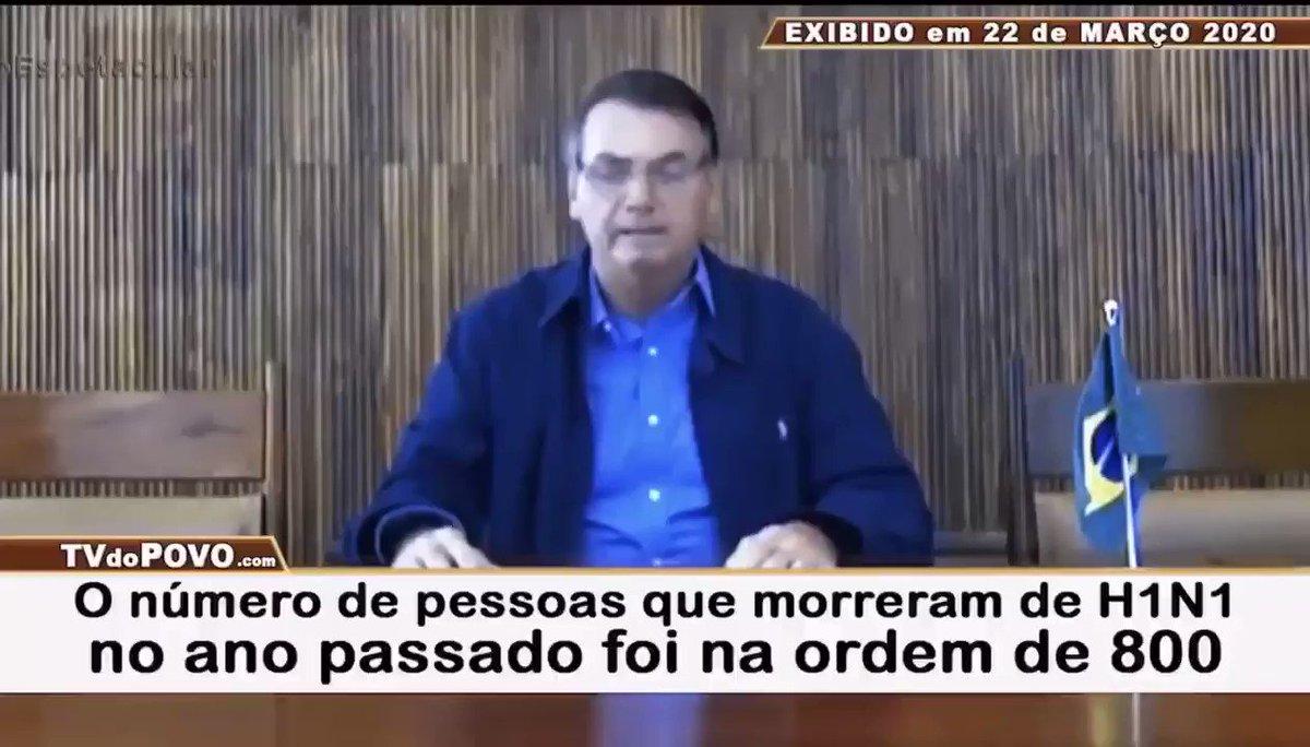 """""""Eu não chutei nada na questão do vírus, tudo o que eu falei deu certo"""", diz Bolsonaro, que em março previu que o Brasil teria no máximo 800 vítimas da COVID ao todo."""