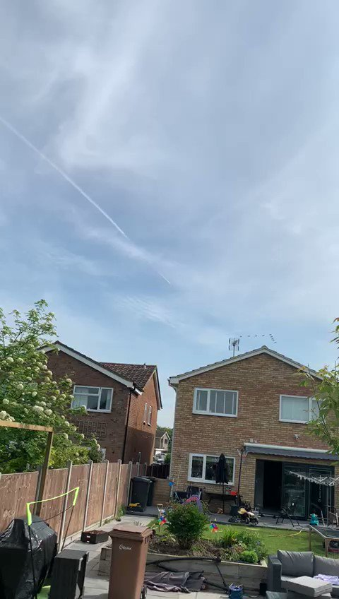 Image for the Tweet beginning: Red Arrows over Danbury this