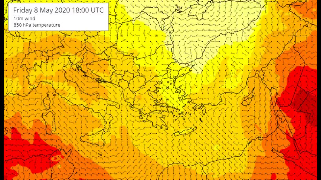 Θερμές αέριες μάζες από τις ακτές της Β. Αφρικής θα κινηθούν προς την περιοχή μας και η θερμοκρασία θα φτάσει τους 30 με 32 βαθμούς στα ανατολικά ηπειρωτικά την Τρίτη. Ο ζεστός καιρός θα διατηρηθεί μέχρι και το τέλος της ερχόμενης εβδομάδος hnms.gr/emy/el/forecas…