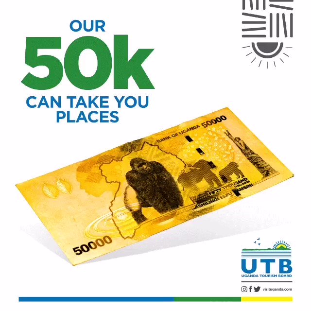 The 50K is back. One of the most decorated Ugandan note with tourism attractions. If you didn't know, Now you know. #StayHome #Travel2moro #VisitUganda #Tulambule #ExperienceUganda