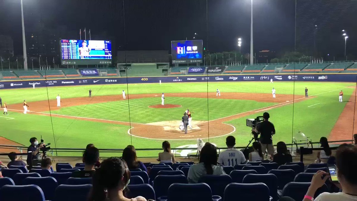 That sound baseball fans all over the world have been missing. Life in #Taiwan slowly gets back to normal with the first pro baseball game with fans back in the stadium. @jodifs, why aren't you here?