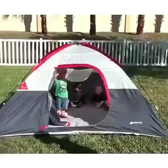 Hold my juice box while I come out of the tent.