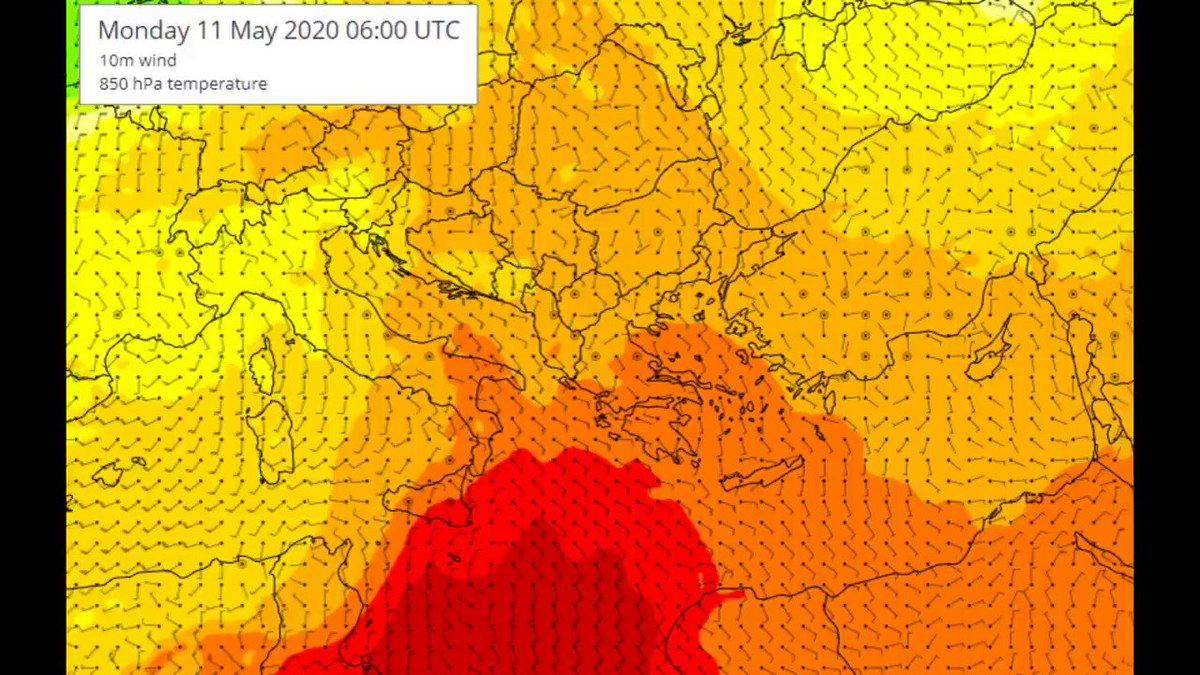 Δύο θερμά κύματα αυτή την εβδομάδα. Το πρώτο την Τρίτη, όπου θα έχουμε 32 με 33 βαθμούς, ενώ το δεύτερο, με μεγαλύτερη διάρκεια, θα μας επηρεάζει από την Πέμπτη και θα κρατήσει μέχρι την Κυριακή, με περαιτέρω άνοδο της θερμοκρασίας. Δείτε την πρόγνωση hnms.gr/emy/el/forecas…