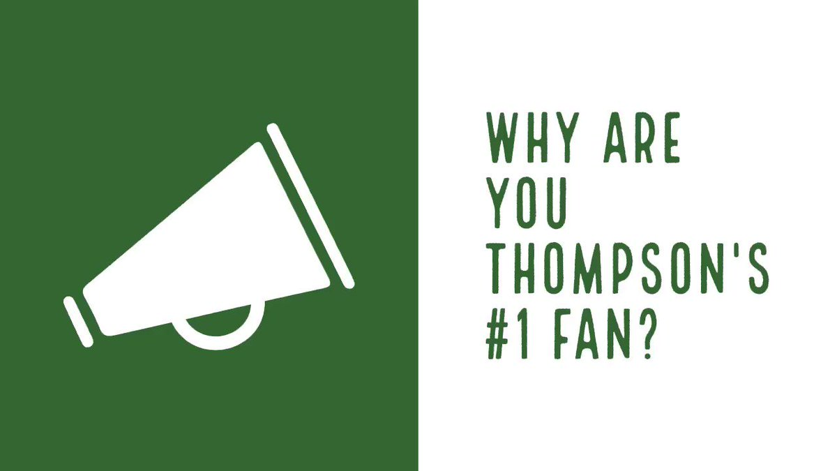 Thinking about joining Team Thompson? Let some of our #1 fans tell you why you should! #ThompsonIsExcellence @CFBISD