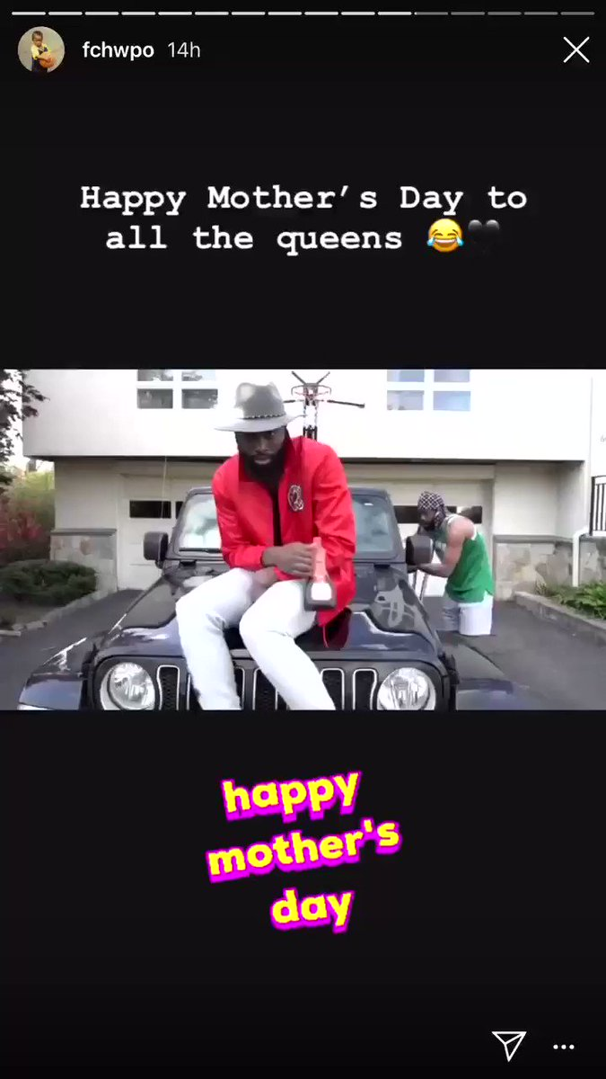 Jaylen Brown was rapping about Mother's Day last night on IG