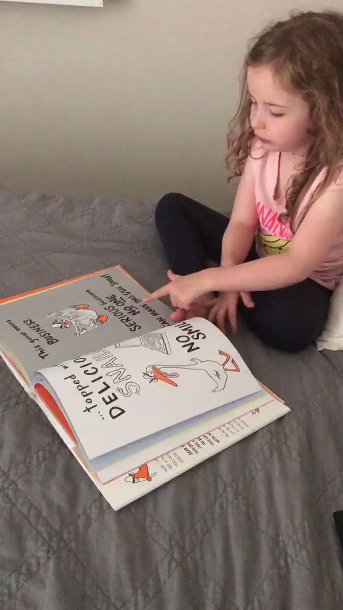 @jimmykimmel Five year old Harper loves reading #theseriousgoose #jimmykimmel #seriousgoose