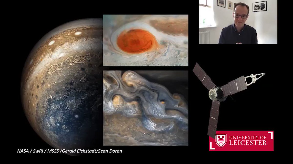 🛰️ @LeighFletcher, Planetary Scientist @uniofleicester, reveals how scientists at the University are working as part of both @NASAJuno and @esas #JUICE missions to find out more about Jupiter and its moons. ▶️ Watch the full video: youtu.be/2B4zPGIrjyI